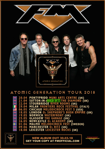 FM Atomic Generation 2018 tour dates poster