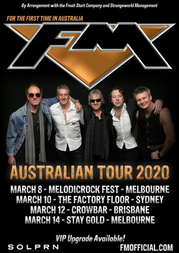 FM - Australia tour - March 2020 - poster