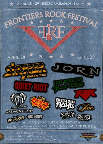 FM live at Frontiers Rock Festival - 29 April 2018 - poster
