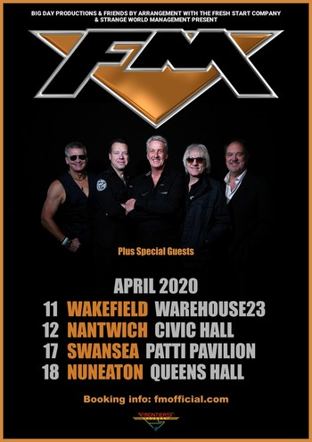 FM - UK Tour - April 2020 - poster