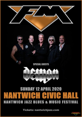 FM + Demon at Nantwich Jazz - 12 April 2020 - poster