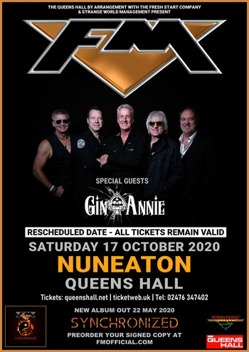 FM + Gin Annie at Nuneaton Queens Hall - 17 October 2020 - poster