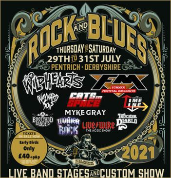 FM at Pentrich Rock and Blues - 31 July 2021 - poster
