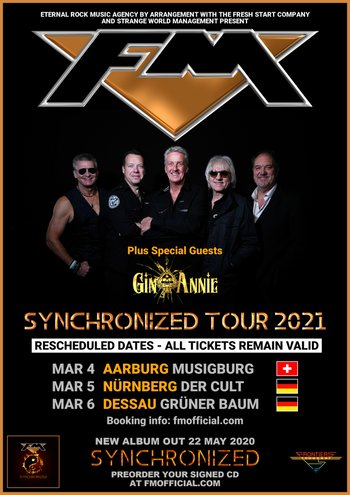 FM - Switzerland + Germany tour dates - March 2021 - poster