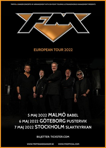 FM - May 2022 Sweden tour dates - poster